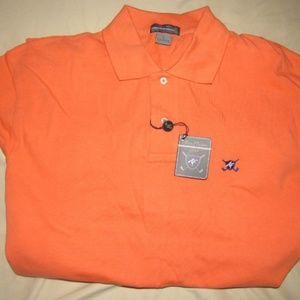 NEW Alan Flusser GOLF Orange Polo Golf Shirt